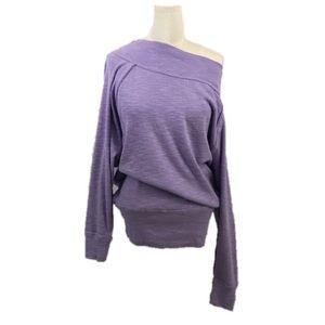 Free People Purple Palisades Off The Shoulder Top